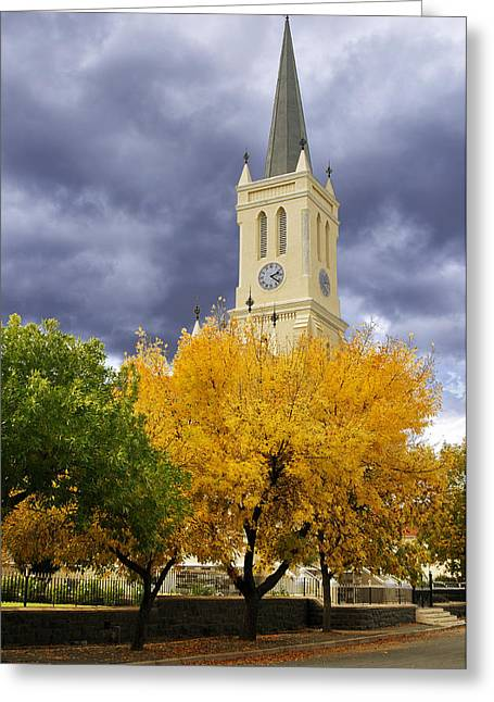 Richmond Church Tree Autumn Greeting Card by Joe Lategan