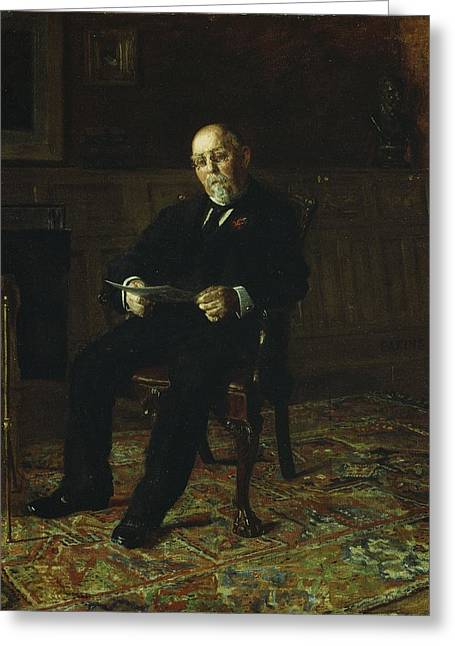 Robert M. Lindsay Greeting Card by Thomas Cowperthwait Eakins