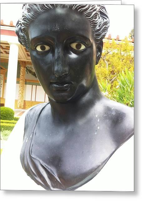 Roman Sculpture Greeting Card by Paul Washington