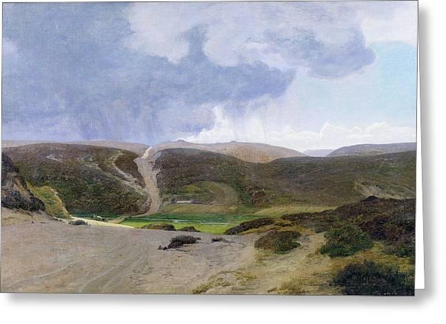 Scandinavian Landscape  Greeting Card by Janus la Cour