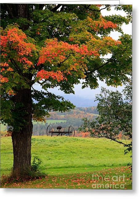 Greeting Card featuring the photograph  Scenic New England In Autumn by Karen Lee Ensley