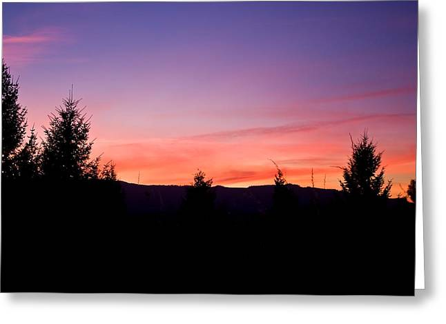 Silhouette Serenity Greeting Card by Tyra  OBryant