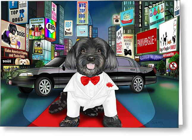 Sir Cuba Of Chelsea In Times Square Nyc Greeting Card