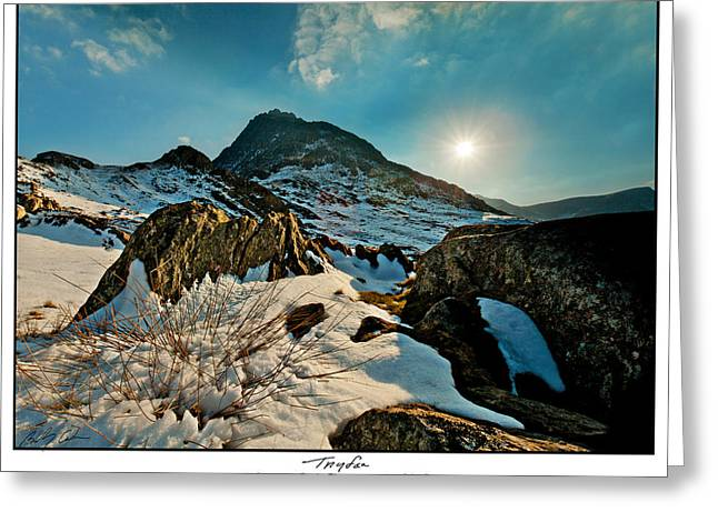Spring Snows At Tryfan Greeting Card by Beverly Cash