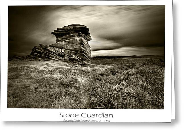 Greeting Card featuring the photograph  Stone Guardian by Beverly Cash