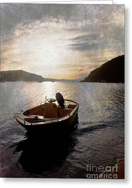 Sunset At Careel Bay Greeting Card by Avalon Fine Art Photography