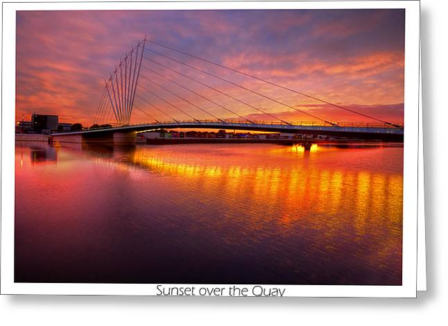 Sunset Over The Quay Greeting Card