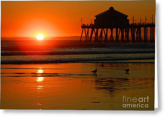 Greeting Card featuring the photograph  Sunset Thoughts by Everette McMahan jr
