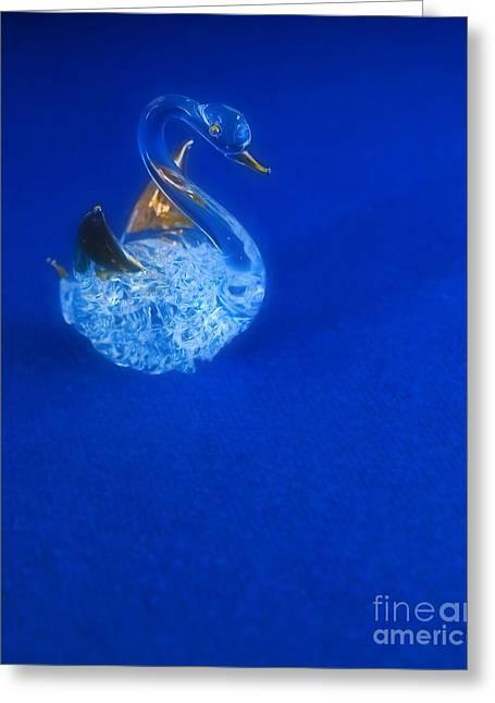 Swan Greeting Card by Odon Czintos