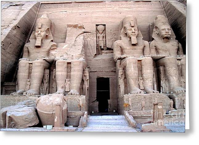 Temple Of Abusimbel Greeting Card by Luis and Paula Lopez