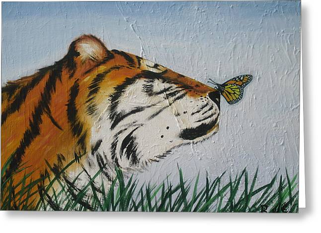 '' Tiger Colors'' Greeting Card by Mccormick  Arts