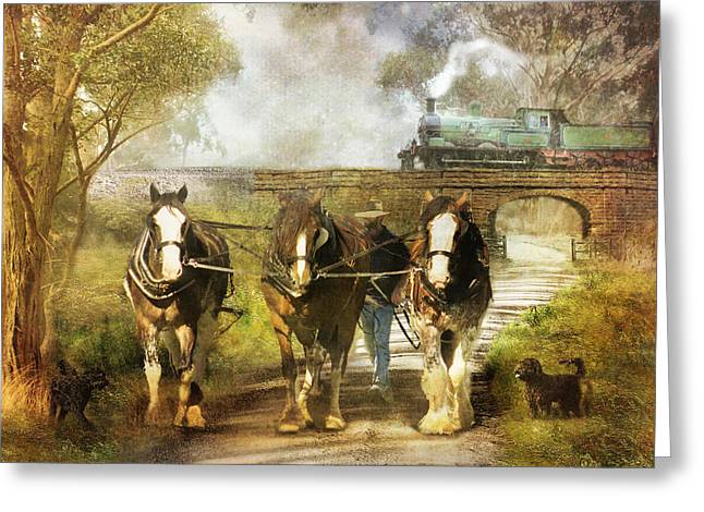 Under Our Own Steam Greeting Card by Trudi Simmonds