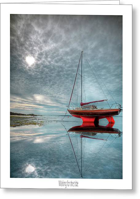 Greeting Card featuring the photograph  Waiting For The Tide by Beverly Cash