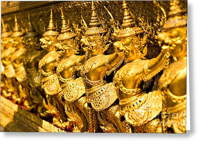 Greeting Card featuring the photograph  Wat Phra Kaeo by Luciano Mortula