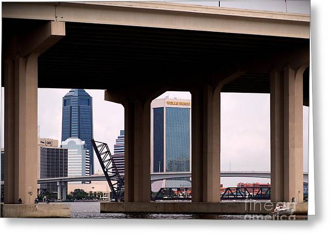 Welcome To Jacksonville Greeting Card by Richard Burr