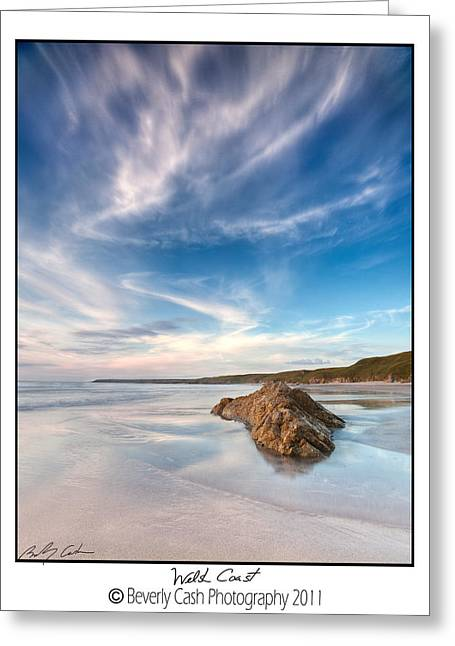 Welsh Coast - Porth Colmon Greeting Card