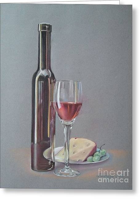 Wine Greeting Card by Ahto Laadoga