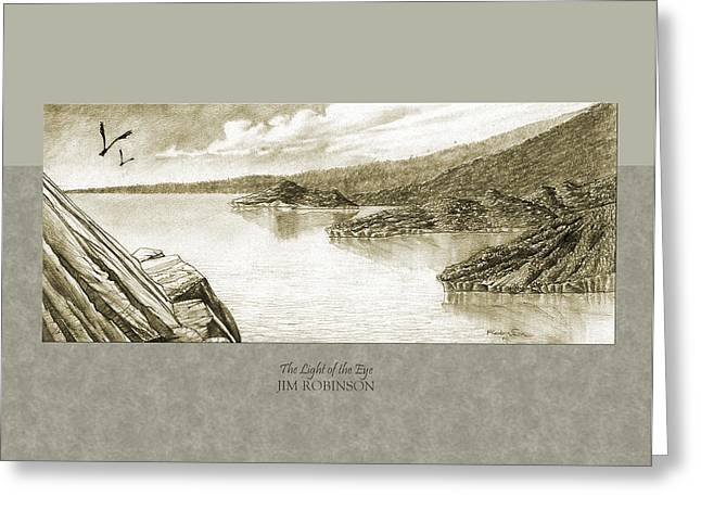 036 The Light Of The Eye Greeting Card by Jim Robinson