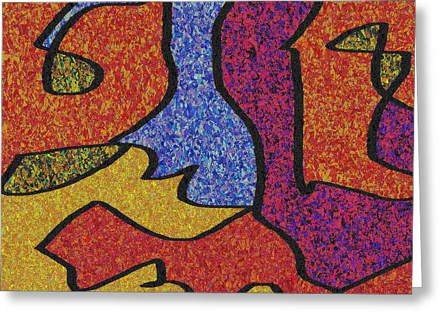 0664 Abstract Thought Greeting Card by Chowdary V Arikatla