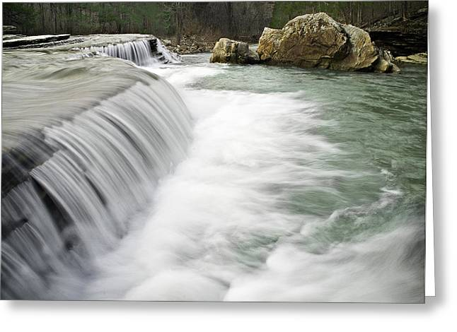 0804-0012 Six Finger Falls 1 Greeting Card by Randy Forrester