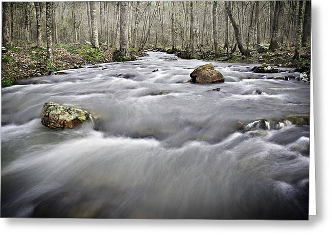 0804-0122 Rolling Creek Of The Ozark Mountains Greeting Card by Randy Forrester