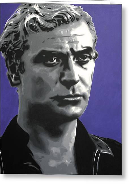 - Michael Caine - Greeting Card by Luis Ludzska