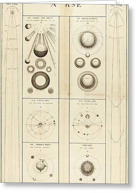 18th Century Astronomical Diagrams Greeting Card by Library Of Congress