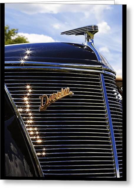 Greeting Card featuring the photograph 1937 Ford Model 78 Cabriolet Convertible By Darrin by Gordon Dean II