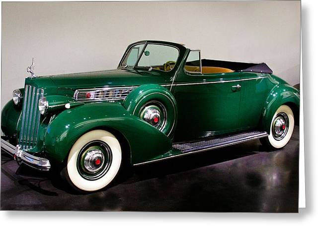 1939 Packard Super 8 Convertible Coupe Greeting Card by David Patterson