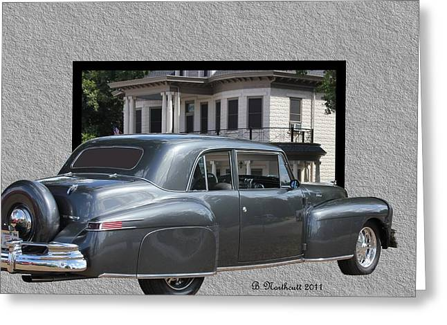 1947 Lincoln Continental Coupe Greeting Card by Betty Northcutt
