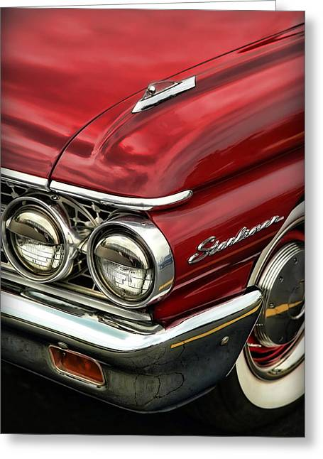 1961 Ford Starliner Greeting Card by Gordon Dean II