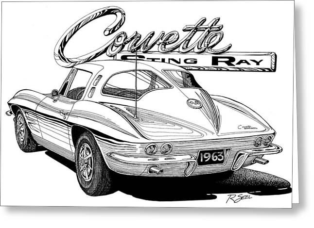 1963 Split Window Corvette Greeting Card