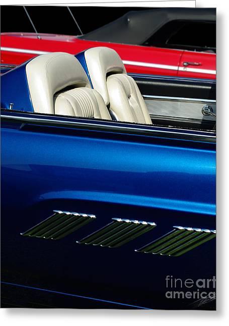 1963 Thunderbird Convertible Greeting Card by Peter Piatt