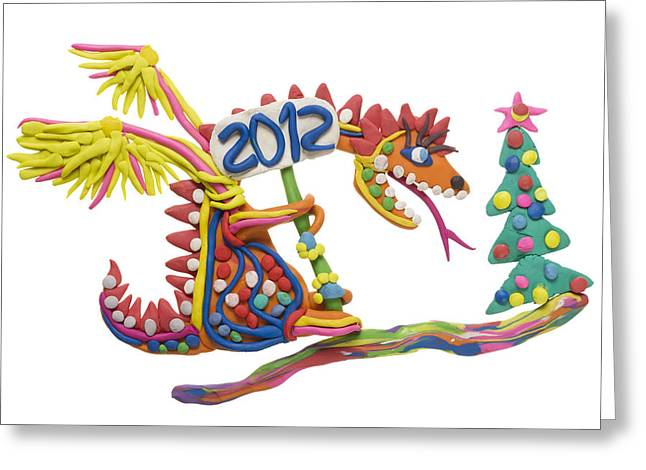 2012 - Year Of The Red Dragon Greeting Card by Aleksandr Volkov