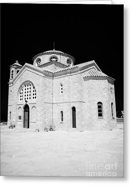 20th Century Agios Georgios Church In St Georges Bay Near Pegeias Republic Of Cyprus Greeting Card by Joe Fox