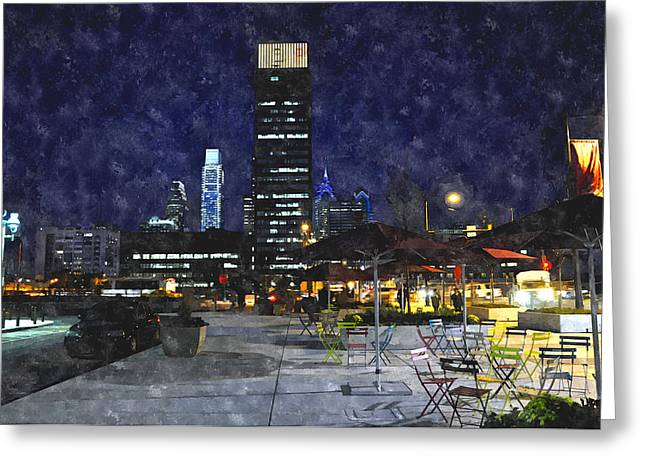 30th Street Station Plaza Greeting Card