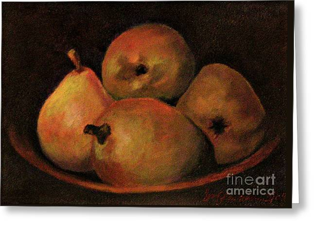 4 Pears Greeting Card