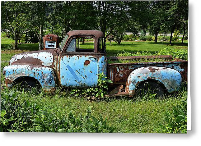 Greeting Card featuring the photograph '48 Chevy by Paul Mashburn