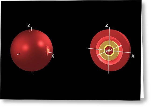 4s Electron Orbital Greeting Card by Dr Mark J. Winter