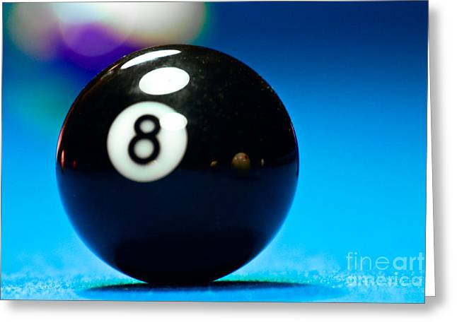 8 Ball Greeting Card by Marko Moudrak