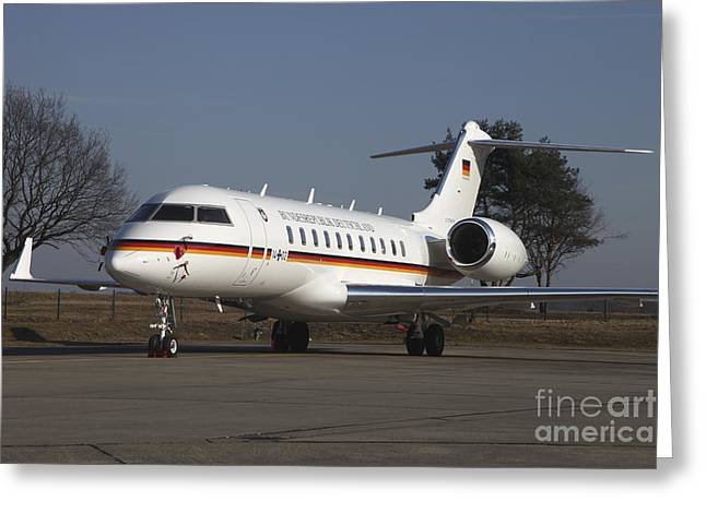 A Bombardier Global 5000 Vip Jet Greeting Card by Timm Ziegenthaler
