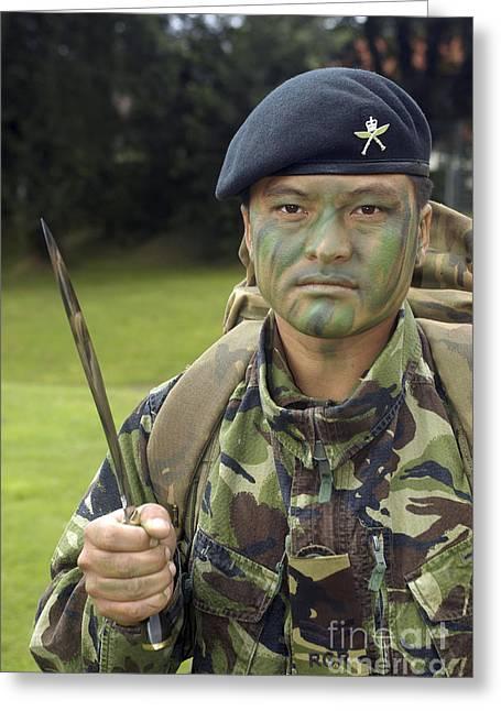 A British Army Gurkha Greeting Card by Andrew Chittock