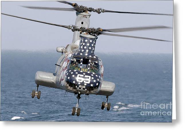 A Ch-46 Sea Knight Helicopter Greeting Card by Stocktrek Images