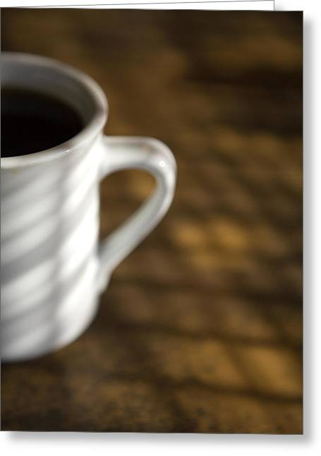 A Cup Of Coffee At A Diner Greeting Card by John Burcham