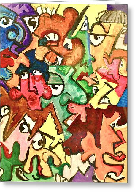 A Face In The Crowd Greeting Card