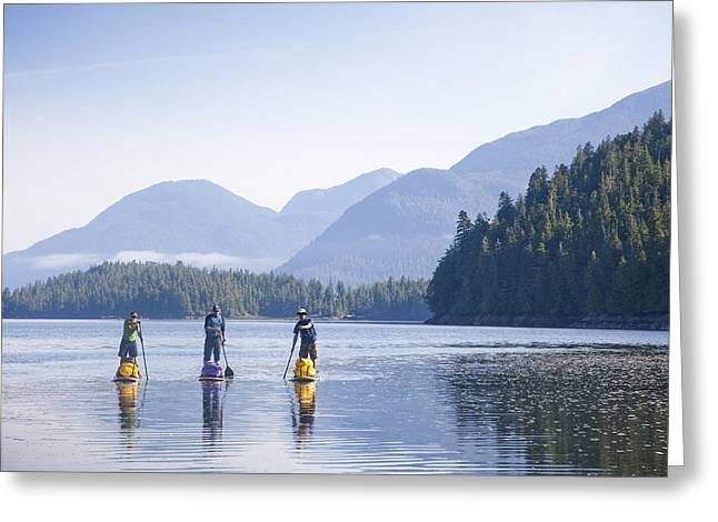 A Group Standup Paddleboards Greeting Card by Taylor S. Kennedy