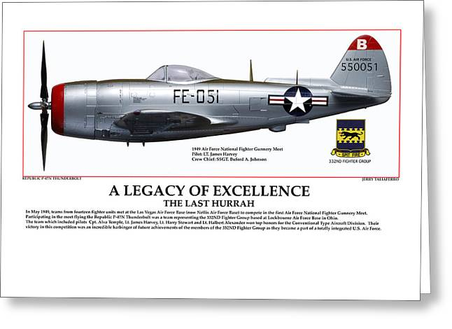 A Legacy Of Excellence Greeting Card by Jerry Taliaferro