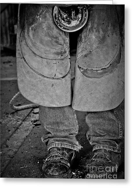 Greeting Card featuring the photograph A Man At Work by Tamera James