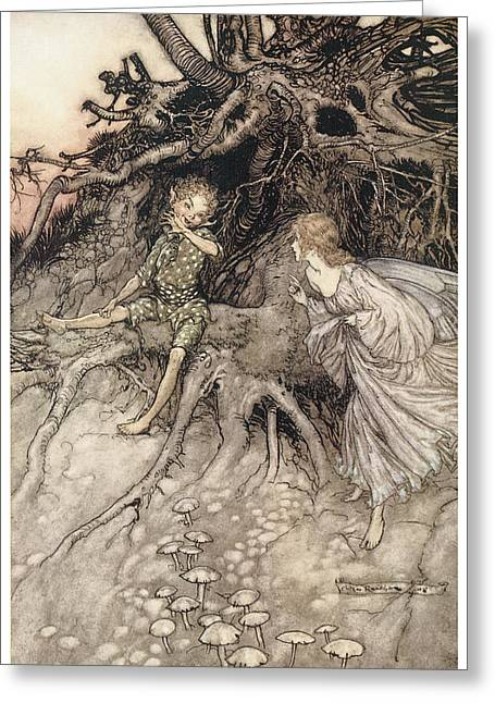 A Midsummer Night's Dream Greeting Card by Arthur Rackman