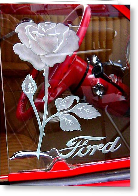 A Rose For Miss Ford Greeting Card